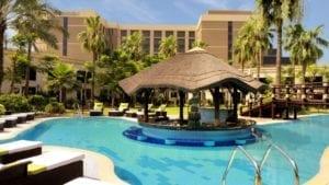 Cuisine--Courtyard-Pool---Le-Meridien-Dubai