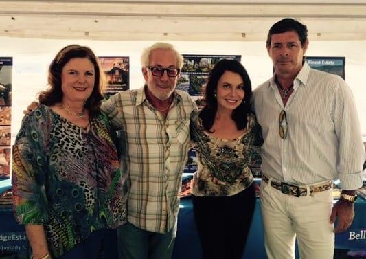 Beach Polo festivities with Marilyn Hoffman, Arny Granat, Irene Michaels and .Julio Novillo.