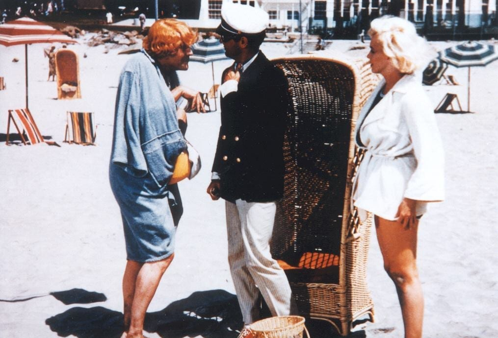 "Looking back on a shining moment in Hotel del Coronado history: the filming of ""Some Like It Hot,"" starring Marilyn Monroe, Tony Curtis, and Jack Lemmon."