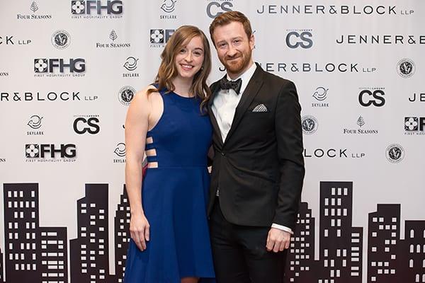 Trisha Leavitt and Jason Griebeler attend the 2018 CYSO Gala.