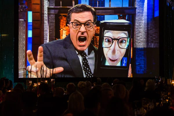Stephen Colbert video congratulations to Lookingglass Theater Company