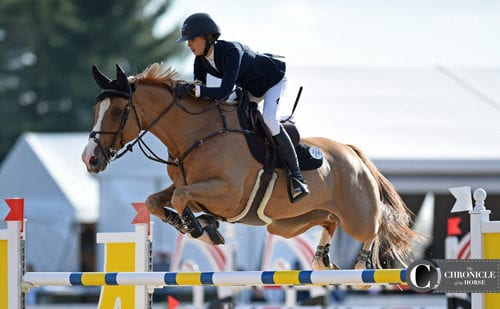 Young rider Eve Jobs took second with Venue D'fees Des Hazalle.