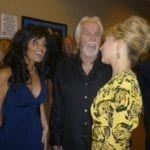 Kenny Rogers with his wife and Nicole Richie