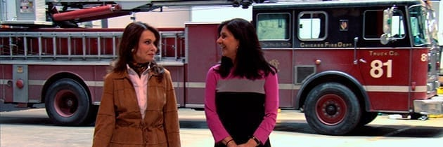 Interviewing Betsy Steinberg on the Set of Chicago Fire for TCW's Powerful Partners