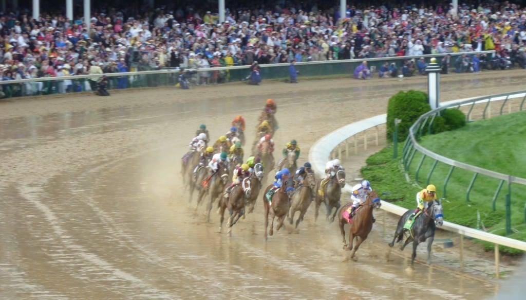 First Turn of Kentucky Derby