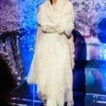 Factor model wearing Agnes Hamerlik design
