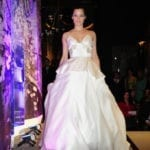 Factor model wearing Katelyn Pankoke design