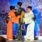 Kimono dressing by designer Takako Yamanaka