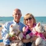John & Christine Mallul with Lars & Jimmy