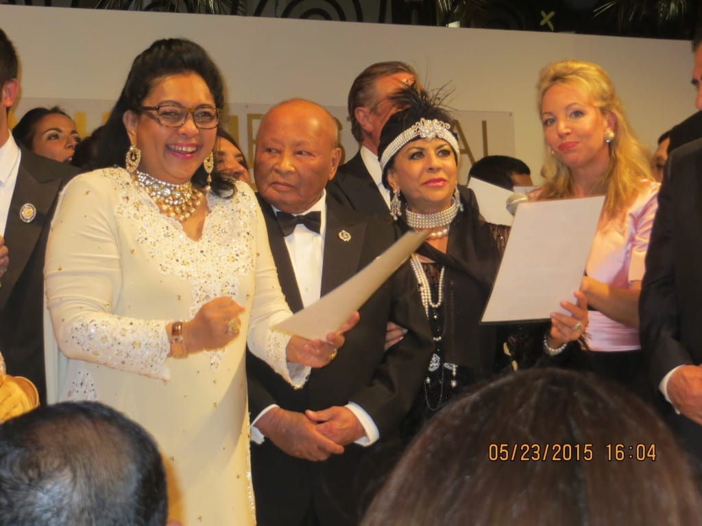 (L-R) Tengku Aishah and Their Royal Highnesses, Sultan Ahmad Shah and Sultanah Kalsom Abdullah, Princess Camilla
