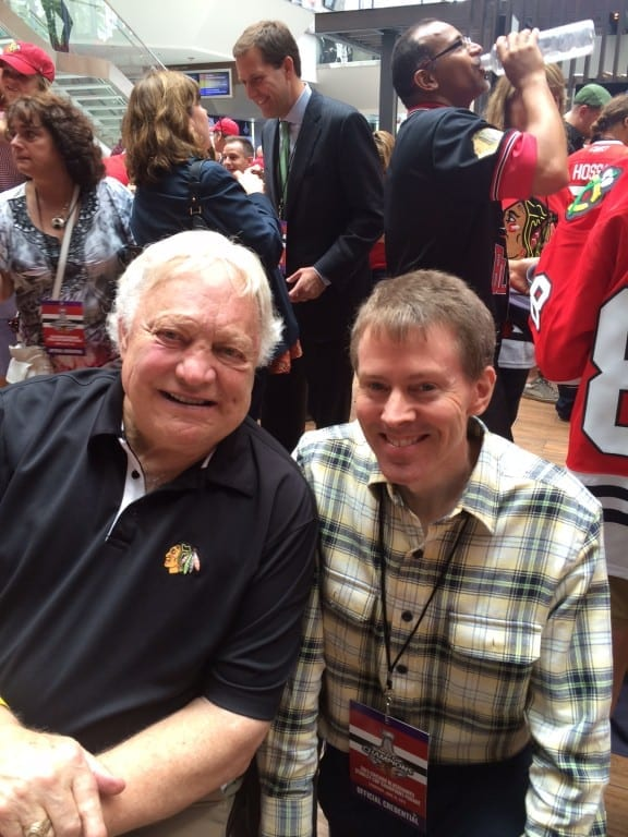 The legendary Bobby Hull with Jim Wattron