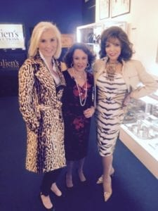 Megan O'Brien, Nikki Haskell, and Dame Joan Collins