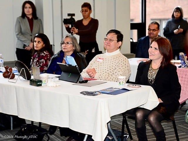 Dr. Dalia Wasfi, Gloria Castillo, Jae Jin Pak, Lt. Gov Evelyn Sanguinetti, Alex Pissios, Brenda Arelano