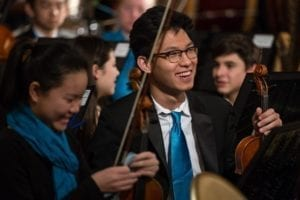 CYSO Symphony Orchestra violinist Vincent Wong _ Photo by Elliot Mandel