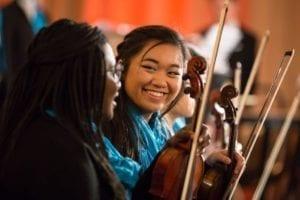 Symphony Orchestra Violinist Sarah Uy | Photo by Elliot Mandel