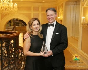 President's Award recipient Michelle Krage and Foundation President Rob Grant