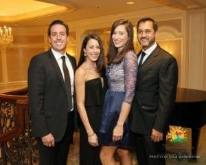 David and Lindsey Henry, Laura and Jimmy Liddar