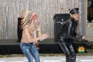Village People performers at Face the Future Foundation Gala