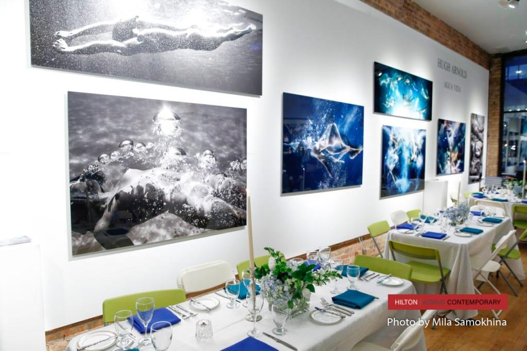 Hugh Arnold's Agua Vida exhibition opening - by Mila Samokhina