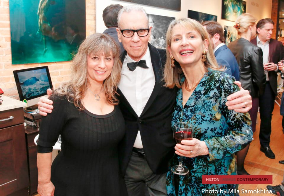 Pam Rose, Paul Meyer and Marianne Meyer attend the Agua Vida opening.