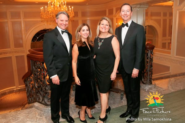 Face The Future Foundation President Rob Grant, VP Michelle Krage, Elsa Johnson and Mark Allen.