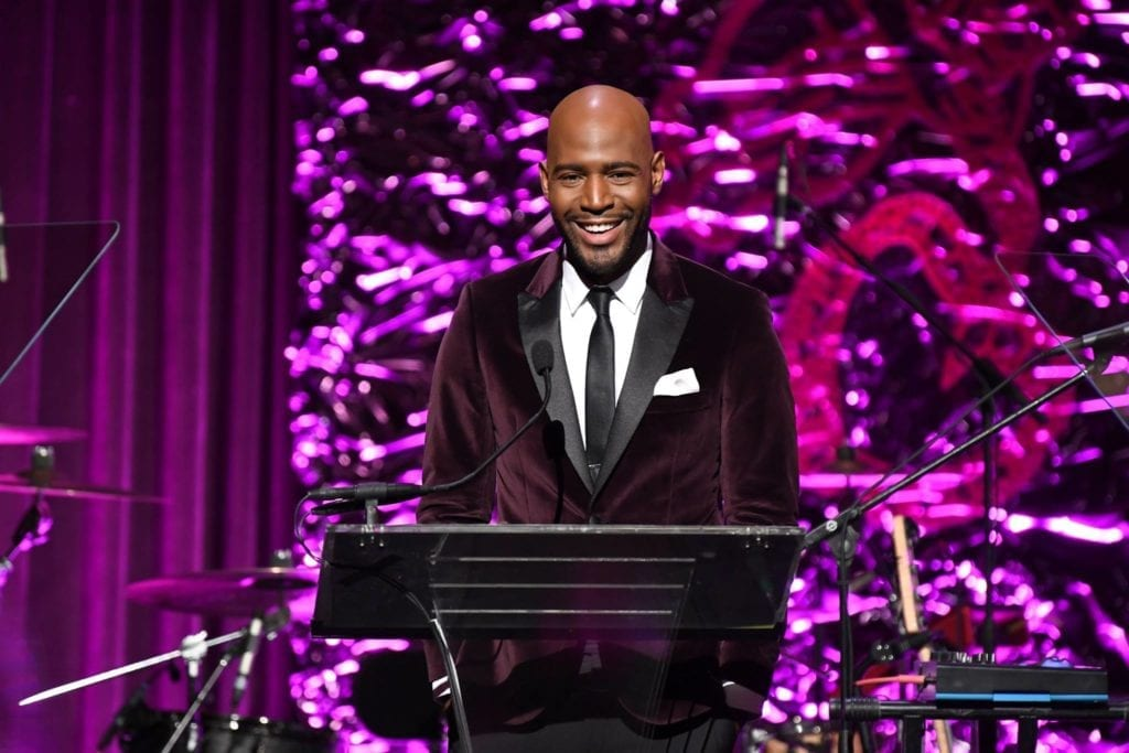 Karamo Brown emcees the 2018 Angel Ball hosted by Gabrielle's Angel Foundation at Cipriani Wall Street on October 22, 2018 in New York City. (Photo by Dimitrios Kambouris/Getty Images for Gabrielle's Angel Foundation)