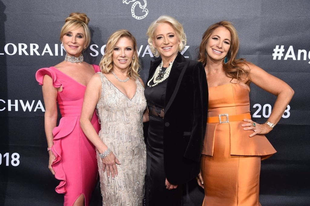 Real Housewives of New York City Sonja Morgan, Ramona Singer, and Dorinda Medley, and Personality Jill Zarin attend the 2018 Angel Ball hosted by Gabrielle's Angel Foundation at Cipriani Wall Street on October 22, 2018 in New York City. (Photo by Jamie McCarthy/Getty Images for Gabrielle's Angel Foundation)
