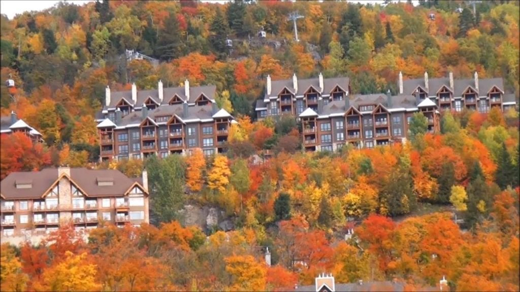Beautiful Fall Colors at Mont Tremblant Quebec