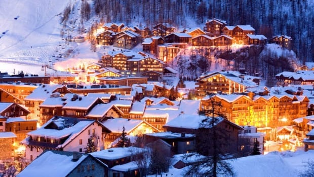 Val d'Isere at night.