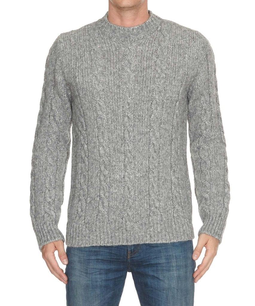 Tod'S Wool Sweater In Grey
