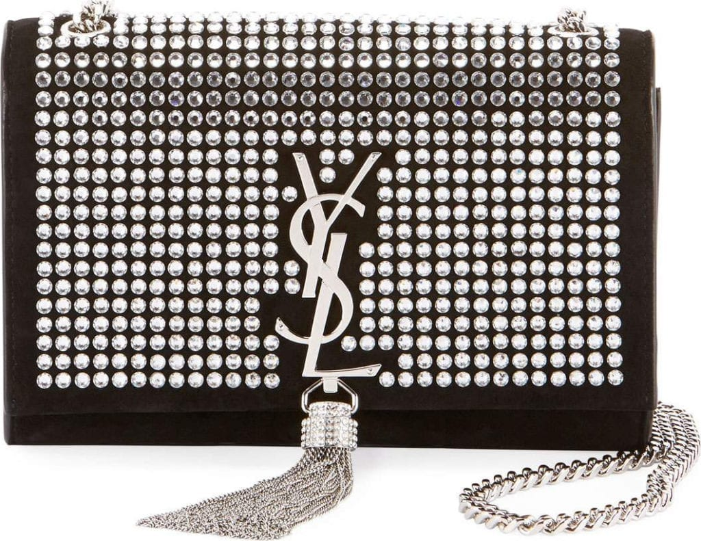 Kate Monogram YSL Small Tassel Chain Crossbody Bag with Crystals - Miroir Hardware