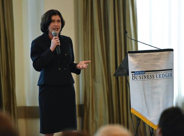 WINGS, a nonprofit organization serving individuals and families impacted by domestic violence, has been recognized with a 2017 Chicago Innovation Award. Rebecca Darr, CEO, WINGS Program, was recently the keynote speaker at the Business Ledger Influential Women in Business awards ceremony. Bob Chwedyk   Staff Photographer