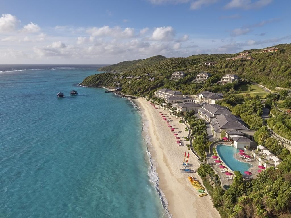 A bird's-eye view of Mandarin Oriental, Canouan