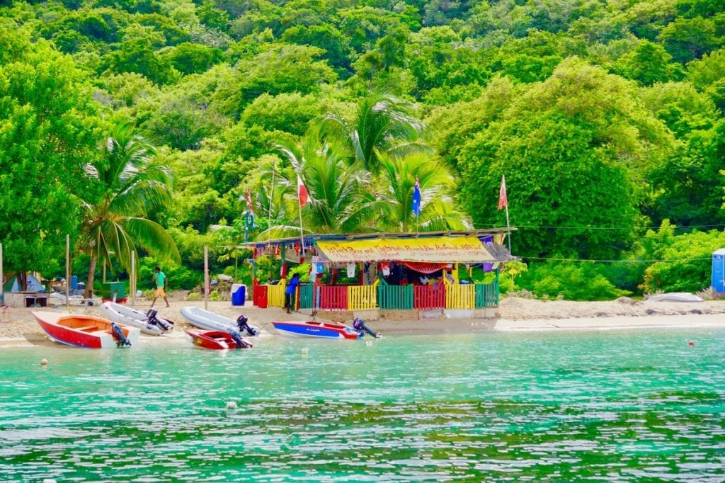 Mayreau beachbar Grenadines