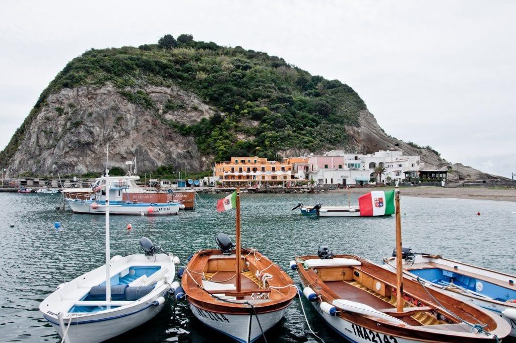 Bay of Sant Angelo, Ischia, Italy,