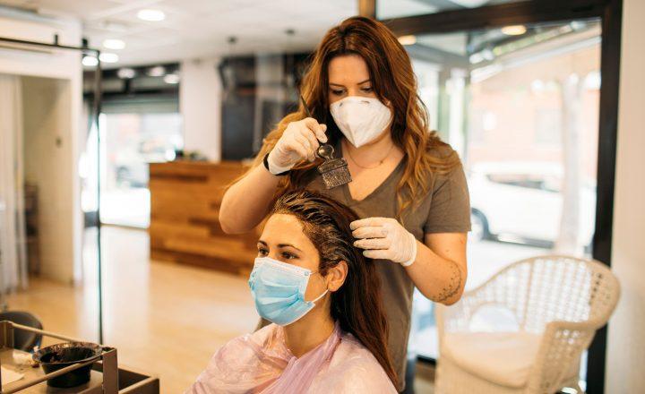 Hair Salon during the COVID-19